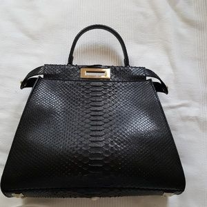 PYTHON BLACK SNAKE BAG